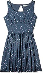 Flying Machine Womens Body Con Cotton Mini Dress (FWDR0110_Captain Blue_M)