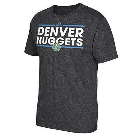 NBA Denver Nuggets Men's Dassler Short Sleeve Go-To Tee, Large, Gray