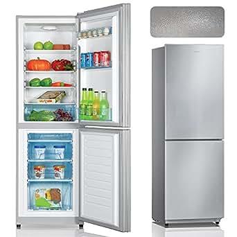 BERGSTROEM A+++ Kühl-Gefrierkombination Kühlschrank Tiefkühlschrank Edelstahl Strukturiert