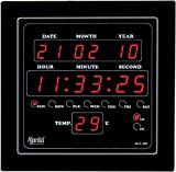 Ajanta Quartz Plastic Digital Clock OLC 302 (Black)