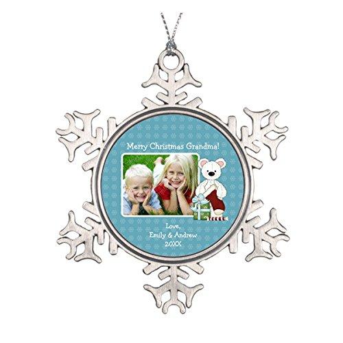 Daily Lady Weihnachten Bär Weihnachtsstrumpf Oma Foto Personalisierte Runde Keramik Weihnachten Ornament