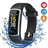 moreFit Fitness Tracker, Waterproof Activity Tracker Smart Watch with Heart Rate Blood Pressure Monitor, Wearable Smart Wristband Pedometer Watch with Sleep Monitor for Woman Men Kids