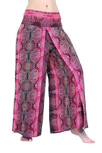 ThaiUK Damen Hose Mehrfarbig mehrfarbig One size Paisley-Muster / Rosa