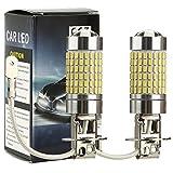 CICMOD 2x 1500 Lumen 80W H3 LED Birnen Nebelscheinwerfer Tagfahrlicht TFL Lampe Xenon-Weiß 6000K