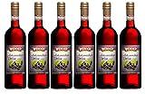 WERDER 6 x Schwarzer Johannisbeer Wein 0,75 l Alk. 9 % vol