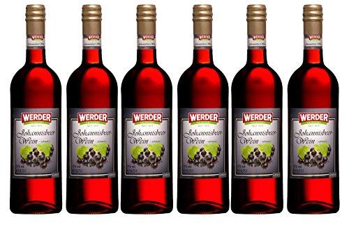 WERDER 6 x Schwarzer Johannisbeer Wein 0,75 l Alk. 9 {6ba5948f0973ea7b0df9ab31191352dbd0bb359f9470232b06cbcb2df97b54e6} vol