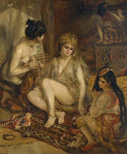 (Berkin Arts Auguste Pierre Renoir Giclée Leinwand Prints Gemälde Poster Reproduktion (Parisiennes im algerischen Kostüm oder Harem))