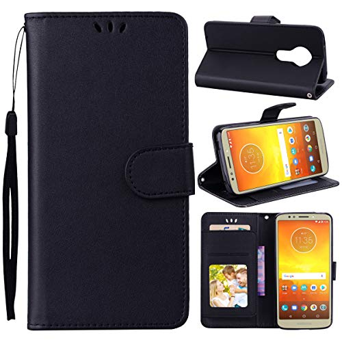 Motorola Moto E5 Play Case,Man Leather Cover Premium PU Leather Wallet Case Leather Cover with Kickstand and Credit Card Slot Cash Holder Flip Cover for Motorola Moto E5 Play Black Motorola Soft Leather Carry Case