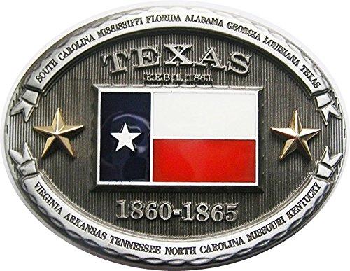 AW-Collection Gürtelschnalle Buckle Gürtelschliesse Flagge Texas Lone Star USA -