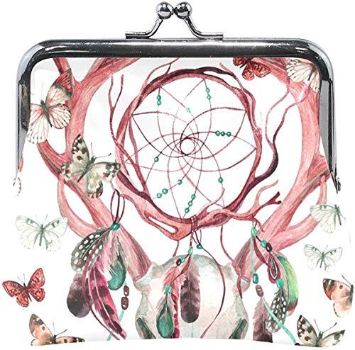 Monederos Ciervo Cráneo Insecto Atrapasueños Hebilla Embrague Bolsas de cosméticos