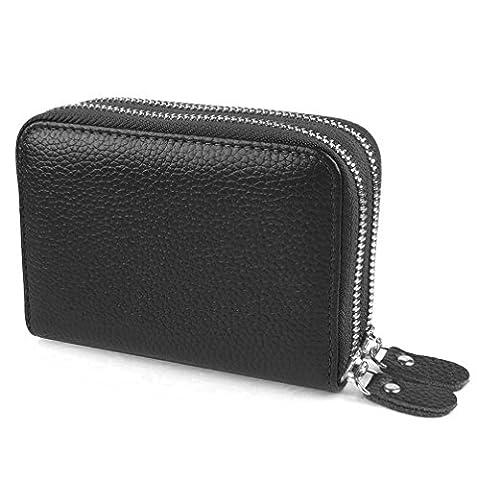 RFID Wallets for Women,RFID Blocking Genuine Leather Smater Credit Card Safe Pocket/Holder/Case Protector Purse for Ladies Girls