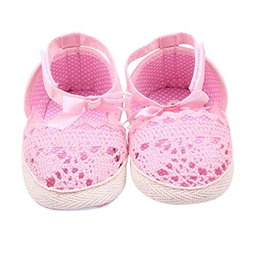 Merssavo Säuglingskleinkind-Baby-Weiche Schuhe Die Sneaker-Neugeborenen 0-6 Monate Gehen Rosa 13 cm