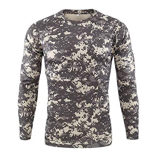 Herren Pullover 3D Druck Langarmshirt T-Shirt Camouflage Funktionsshirt Langarm Kompression Shirt Sport Fitness Laufshirt Sweatshirt Schnell trocken Trainingsshirt Bekleidung
