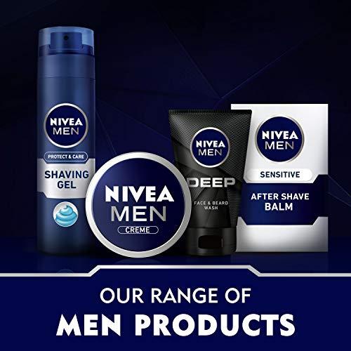 Nivea Men Protect & Care After Shave Balsam im 1er Pack (1 x 100 ml), Aftershave pflegt die Haut nach der Rasur, feuchtigkeitsspendende und beruhigende Gesichtspflege
