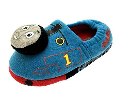 Hit Entertainment , Jungen Hausschuhe Blau Thomas 3D Slippers with Sound