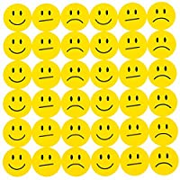 Oblique-Unique® 180 Yellow Smiley Face Sticker ø 2 cm - Smile - Neutral - Sad