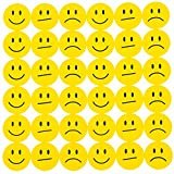Oblique-Unique 180 Gelbe Smiley Face Sticker ø 2cm - Lächeln - Neutral - Traurig