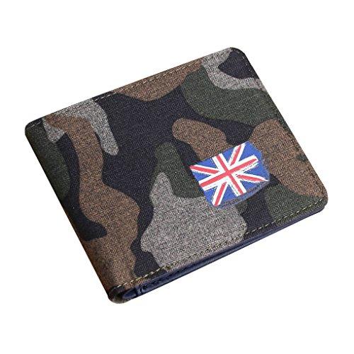 Unisex Camouflage Geldbörse Canvas Geldtasche Geldbeutel mit Umschlag Handtasche Clutch für Damen Herren Jungen Mädchen (Umschlag-geldbeutel Clutch)