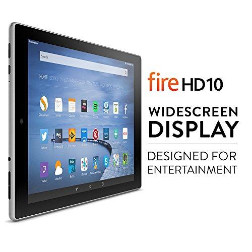 Fire HD 10 Tablet, 10.1'' HD Display, Wi-Fi, 32 GB (Silver Aluminium)