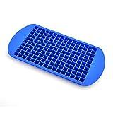 Lzy-store 160 mini dadi in silicone per cubetti di ghiaccio vassoio 100% qualità alimenti in silicone (blu)