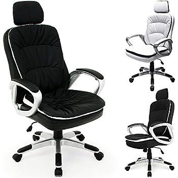 Bürosessel  Bürostuhl flexibler Kopfstütze Chefsessel Drehstuhl ...