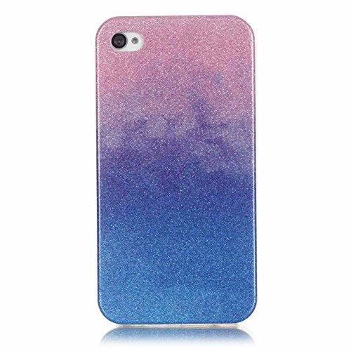 Landee TPU Silicone Étui Bling Couleur dégradado Coque pour iPhone 4 4S (4S-T-115) 4S-T-111