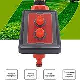 Temporizador de riego, Temporizador Inteligente de Sistema de rociadores con Perilla Simple, Panel de Columpio para Exteriores, Controlador de riego a Prueba de Agua
