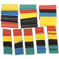 houzhi Liang 328 Piezas 5 Colores 8 tamaños 2:1 termoretráctil Tubo Wrap conexión Kit de Manguera