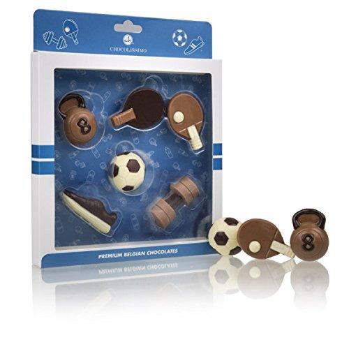 Schokoladiges Sportler-Set - Sport-Zubehör aus Vollmilchschokolade