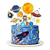 MMTX Decorazioni per Torta per Feste Spazio, Accessori per Feste per Bambini Cake Topper Astronauta, Decorazioni Torta Compleanno