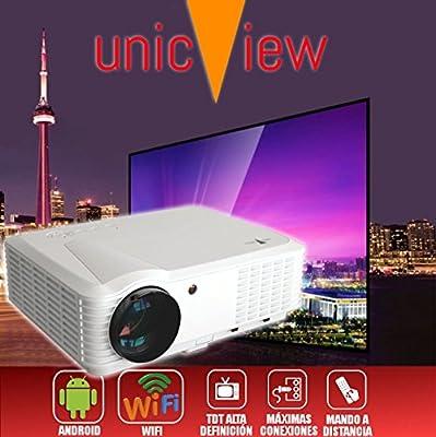 proyector barato Unicview HD250 con WIFI, Android, TDT, USB, HDMI, AC3, 2 años de garantía