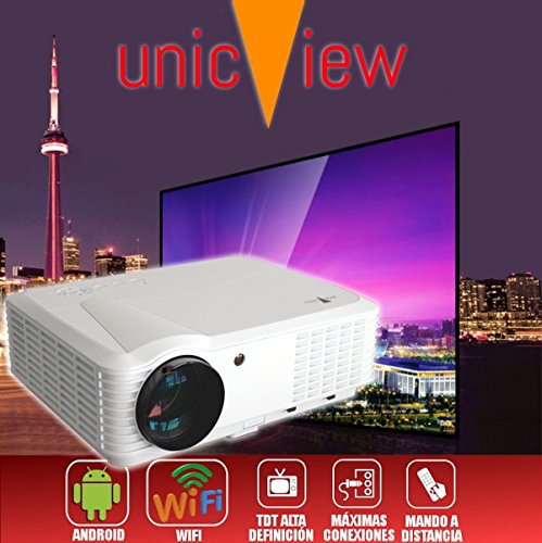 proyector barato Unicview HD250 con WIFI, Android, TDT, USB, HDMI, AC3, 2...