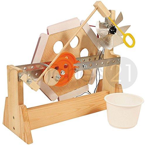 matches21 Seifenblasen-Maschine Seifenblasenautomat Bausatz f. Kinder Werkset Bastelset ab 12 Jahren