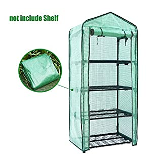 Awtang Awhao 4 Tier Greenhouse Cover Home Plant Greenhouse Tent Mini Garden Cover Without Iron Stand