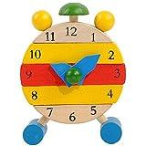 Giocattolo Di Formazione,WINWINTOM Hand Made Orologio In Legno Giocattoli Per I Bambini Imparano Con Clock In Tempo Giocattoli Educativi