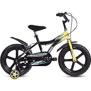 Hero Quicker 16T Steel Single Speed Junior Cycle, 10 Inch (Yellow)