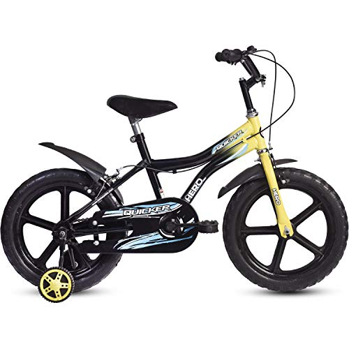 Hero Quicker 16T Steel Single Speed Junior Cycle, 10 Inch (Yellow)