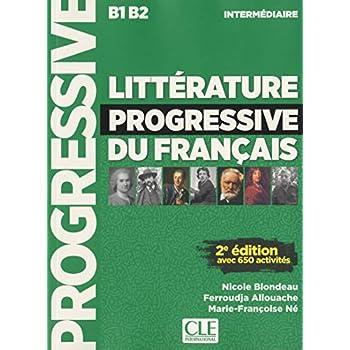 Littérature progressive du français - Niveau intermédiaire - Livre + CD - 2ème édition - Nouvelle couverture