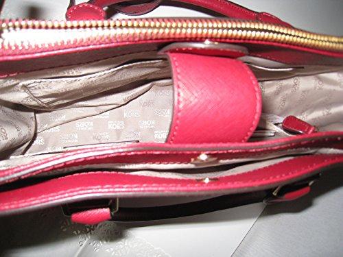 Borsa Donna Michael Kors Kellen Medium Leather Tote ROSSO