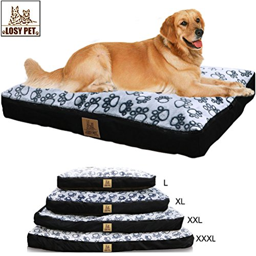 LOSY-PET-Five-sided-Waterproof-Dog-Bed-Extra-Large-Washable-Mat-Jumbo-Big-Pet-Faux-Suede-Plush-With-Removable-Washable-Cover-XL-393354-inch