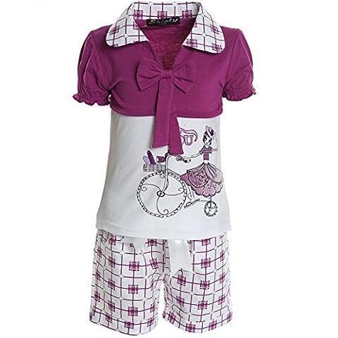 Kinder Mädchen Freizeit Kurzarm Shirt Jogging Hose Outfit 2tl Set Kleidung 20468,