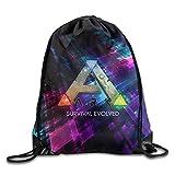 SaiBaing Creative Design Ark Survival Evolved ARPG Game Logo Drawstring Backpack Sport Bag for Men and Women