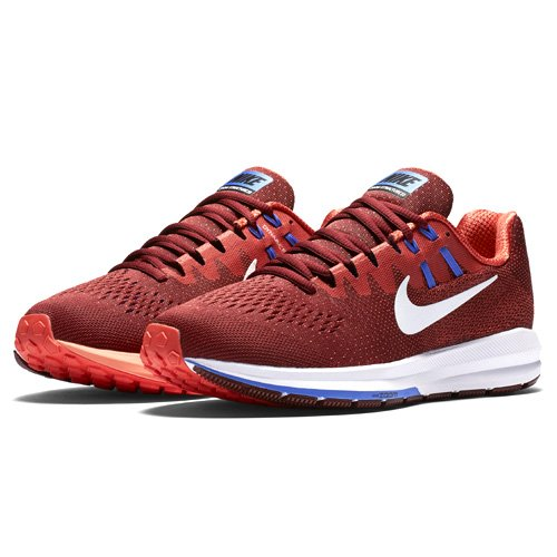 Nike Air Zoom Structure 20, Scarpe Running Uomo Rosso (Team Red/max Orange/medium Blue/white)