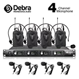 Debra Audio D-140 UHF 4 Channel Wireless Microphone System Metal Receiver With 4