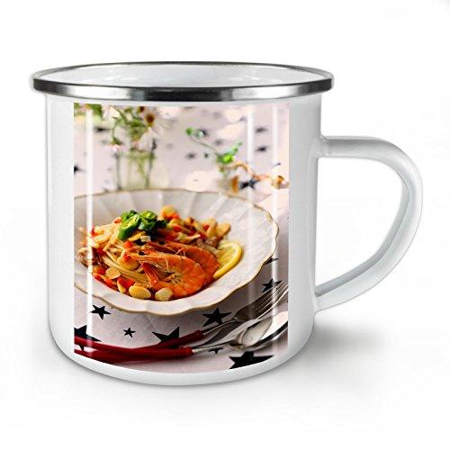 hte Restaurant Essen Emaille-Becher, Lecker - 10 Unzen-Tasse - Kräftiger, griffiger Griff, Zweiseitiger Druck, Ideal für Camping und Outdoor ()