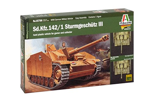 Italeri 15756 - sd. kfz. 142/1 sturmgeschutz iii model kit  scala 1:56
