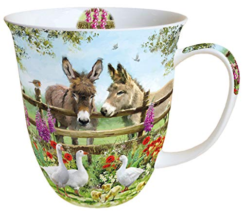 Ambiente Becher Mug Tasse Tee/Kaffee Becher ca. 0,4L Meeting Point