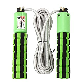 BAAKYEEK Automatic Auto Counting Sponge Handle Jumping Skipping Ropes Fitness Equipment