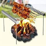 saferestar QB892982 Brosse de Barbecue Portable Pliable en Acier Inoxydable