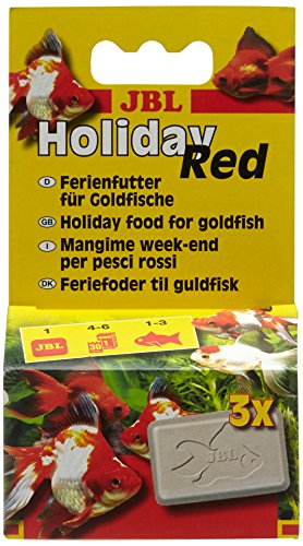 JBL Holiday red 40321 Ferien-Alleinfutter für Goldfische, Futterblock